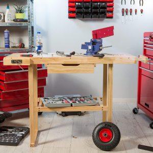 établi d'atelier en bois