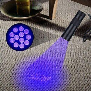 utilisation d'une lampe UV