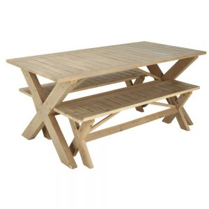banc avec table