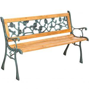 banc de jardin en bois et fer