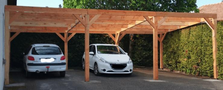 abri de voiture pour 3 voitures