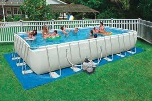 grande piscine autoportée
