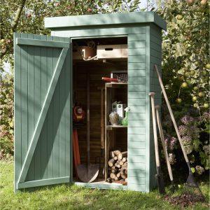 armoire de jardin verte