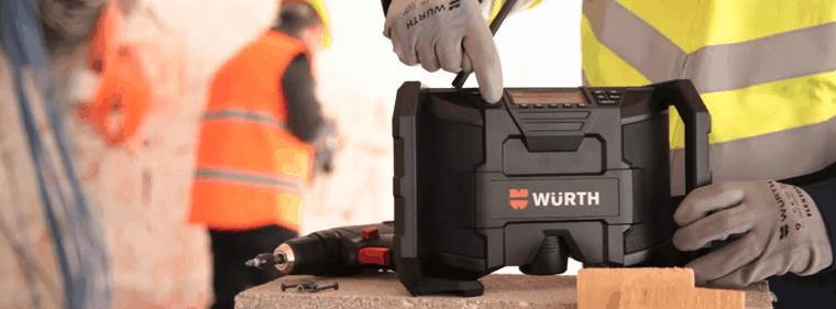 radio de chantierwurth