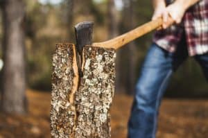 hache pour bois