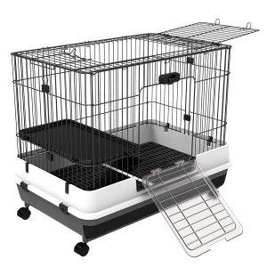cage de lapin avec roulettes