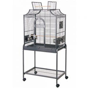 cage pour oiseaux avec roulettes