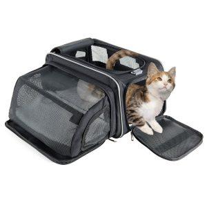 caisse de transport pour chat en tissu