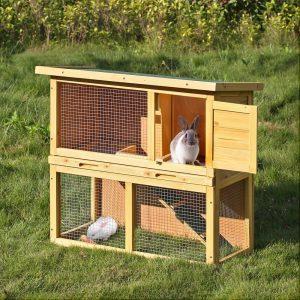 cage de lapin en bois extérieure