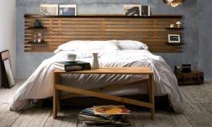 Cabecero de madera estilo somier
