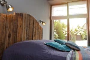 Cabecera rustica de madera maciza